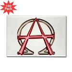 Alpha & Omega Anarchy Symbol 100 Rectangle Magnets