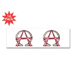 Alpha & Omega Anarchy Symbol 10 Bumper Sticker