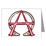 Alpha & Omega Anarchy Symbol 10 Greeting Cards