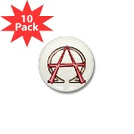 Alpha & Omega Anarchy Symbol 10 Mini Buttons