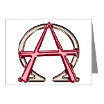 Alpha & Omega Anarchy Symbol 10 Note Cards