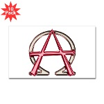 Alpha & Omega Anarchy Symbol 10 Stickers