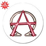 Alpha & Omega Anarchy Symbol Lapel Stickers