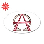 Alpha & Omega Anarchy Symbol 50 Oval Stickers