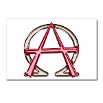 Alpha & Omega Anarchy Symbol 8 Postcards