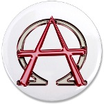 Alpha & Omega Anarchy Symbol Large Button