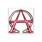 Alpha & Omega Anarchy Symbol Large Poster