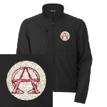 Alpha & Omega Anarchy Symbol Men's Jacket