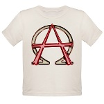 Alpha & Omega Anarchy Symbol Organic Toddler T