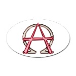 Alpha & Omega Anarchy Symbol Sticker (Oval)