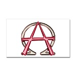Alpha & Omega Anarchy Symbol Sticker