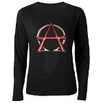 Alpha & Omega Anarchy Symbol Women's L.S. T