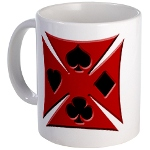 Ace Biker Iron Maltese Cross Coffee Mug