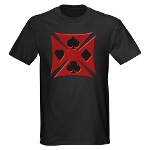Ace Biker Iron Maltese Cross Dark T-Shirt
