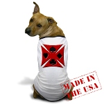 Ace Biker Iron Maltese Cross Dog T-Shirt