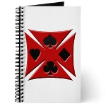 Ace Biker Iron Maltese Cross Journal