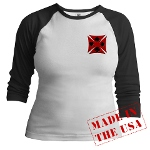 Ace Biker Iron Maltese Cross Jr. Raglan