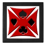 Ace Biker Iron Maltese Cross Keepsake Box