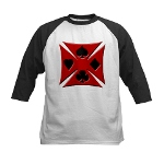 Ace Biker Iron Maltese Cross Kids Baseball Jersey