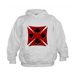 Ace Biker Iron Maltese Cross Kids Hoodie