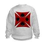 Ace Biker Iron Maltese Cross Kids Sweatshirt
