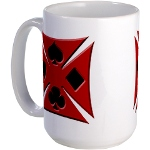 Ace Biker Iron Maltese Cross Large Coffee Cup