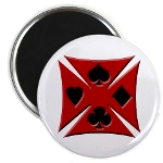Ace Biker Iron Maltese Cross Magnet
