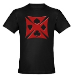 Ace Biker Iron Maltese Cross Men's Fitted T-Shirt