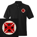 Ace Biker Iron Maltese Cross Men's Polo