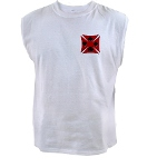 Ace Biker Iron Maltese Cross Men's Sleeveless Tee
