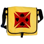 Ace Biker Iron Maltese Cross Messenger Bag