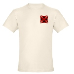 Ace Biker Iron Maltese Cross Organic Cotton Tee