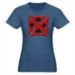 Ace Biker Iron Maltese Cross Organic Women's Fitte