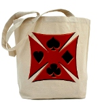 Ace Biker Iron Maltese Cross Tote Bag
