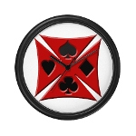 Ace Biker Iron Maltese Cross Wall Clock