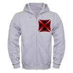 Ace Biker Iron Maltese Cross Zip Hoodie