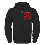 Ace Biker Iron Maltese Cross Zip Hoodie (dark)