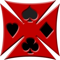 Playing Card Ace Biker Iron Maltese Chopper Cross