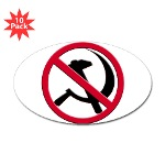 Anti-Communism Sticker (Oval 10 pk)