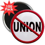"Anti-Union 2.25"" Magnet (100 pack)"