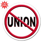 "Anti-Union 3"" Lapel Sticker (48 pk)"