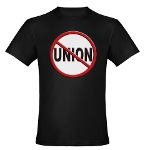 Anti-Union Men's Fitted T-Shirt (dark)