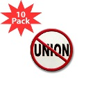 Anti-Union Mini Button (10 pack)