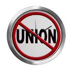 Anti-Union Modern Wall Clock