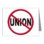 Anti-Union Note Cards (Pk of 20)