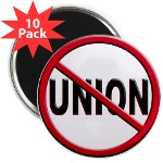 Anti-Union Round Magnet (10 pack)