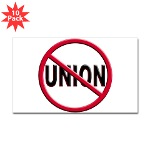 Anti-Union Sticker (Rectangle 10 pk)