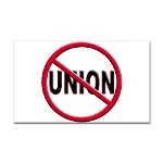 Anti-Union Sticker (Rectangular)