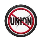 Anti-Union Wall Clock