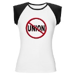 Anti-Union Women's Cap Sleeve T-Shirt